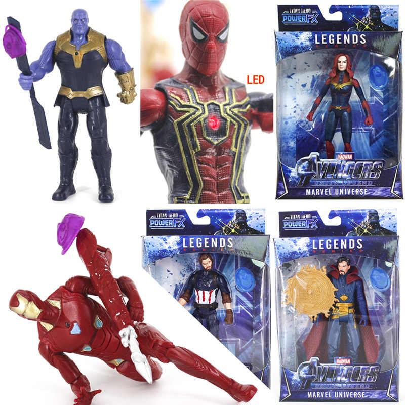 Os vingadores infinito guerra 4 final heróis luz led figura de ação brinquedos para crianças hulk thanos homem de ferro thor capitão marvel