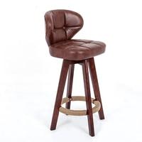 Life North European Bar Chairs Wood Chair Backrest Rotary Stool Bar Stool