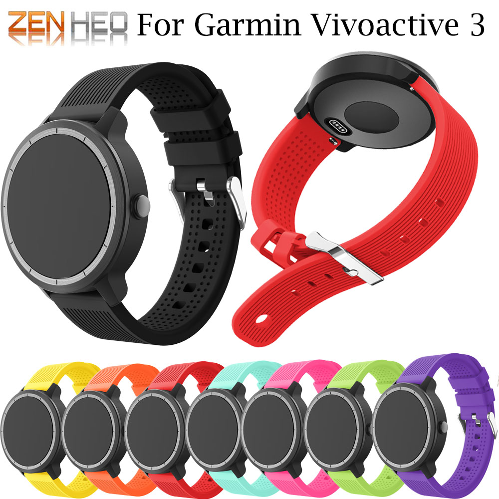 Watch-Band Garmin Vivoactive Samsung Strap Smart-Wrist 42mm 20mm Silicone for Galaxy