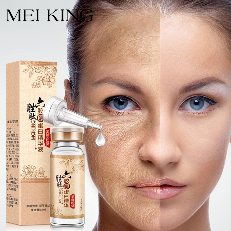 MEIKING Hyaluronihappo Argireline-kollageenipeptidit anti-wrinkle Face-seerumin ihonhoito ikääntyminen Essence Moisturizing Whitening