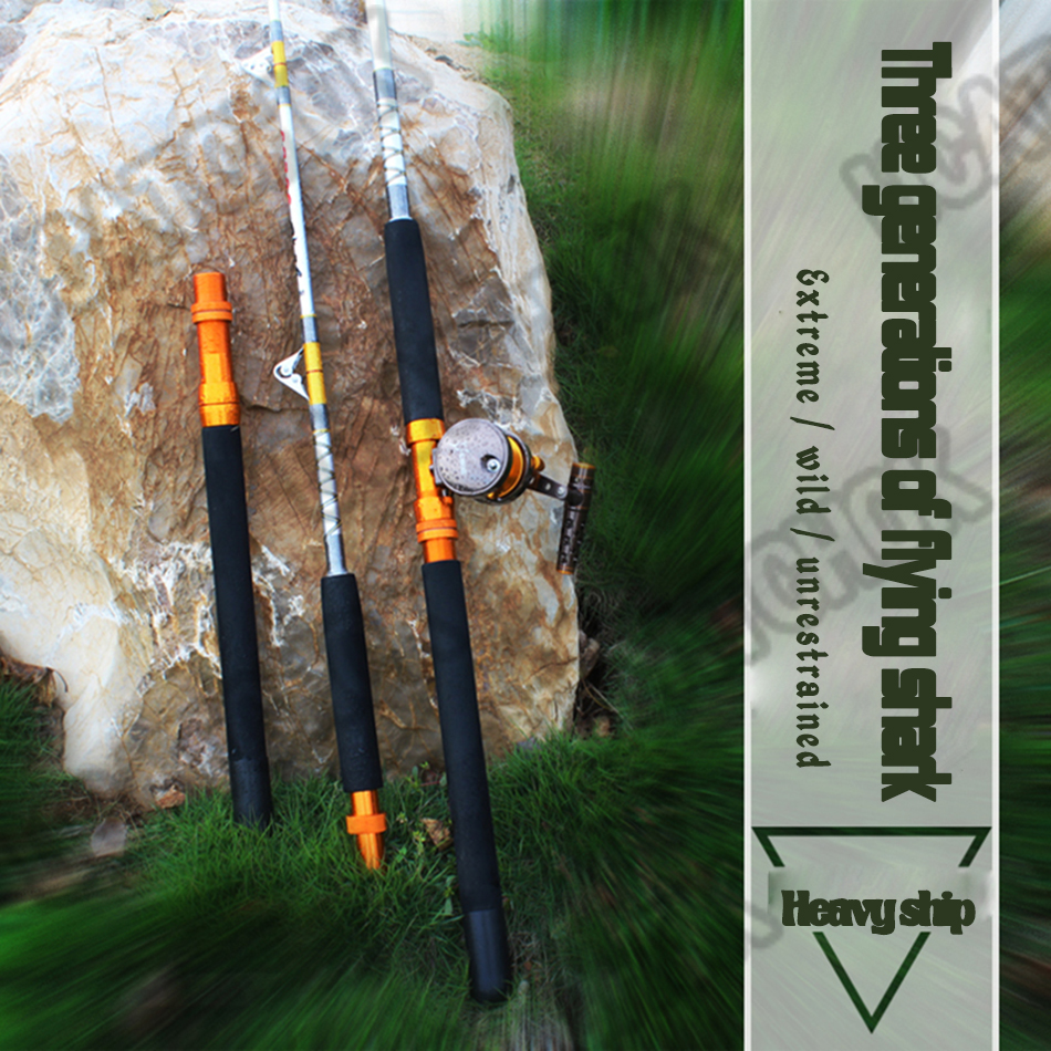 ultra hard 1.8M-2.7M super strong heavy jigging boat trolling deep sea pesca big game fishing violent lure rod fishing tackle ucok 1pcs pack 1 65 1 85m double sections heavy pound no 80 heavy jigging fishing boat rod super drag big game type carbon rod