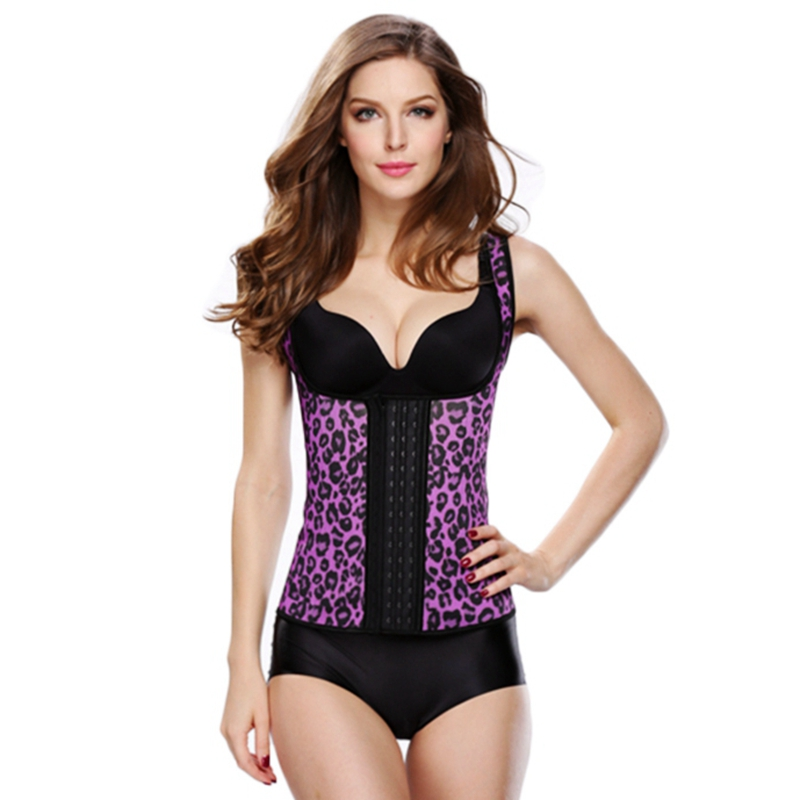 66cd99337 Leopard latex waist cincher sexy corsets and bustiers slimming sheath plus  size waist Trainer corset belt belly rubber shapewear-in Bustiers   Corsets  from ...