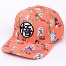 Dragon Ball Z moda gorras de Béisbol 2017 nuevo Super Saiyan hijo Goku  Vegeta impresión Snapback Cap ocasional del sombrero del . d6e48b72591