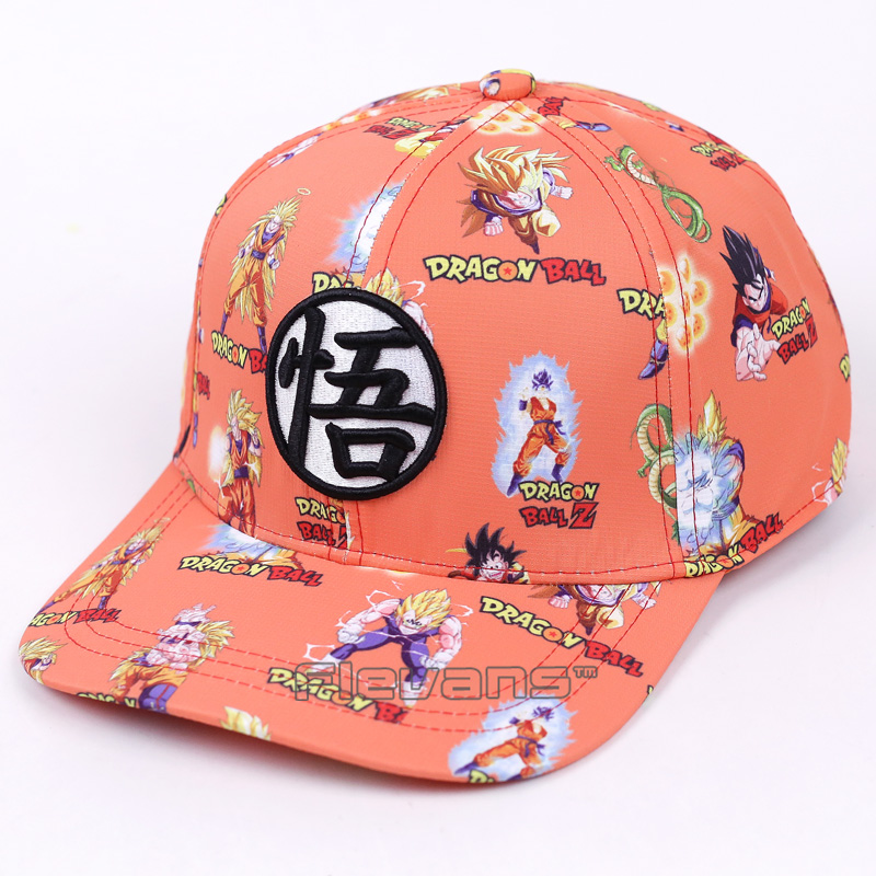 Dragon Ball Z Fashion   Baseball     Caps   2017 New Super Saiyan Son Goku Vegeta Print Mens Snapback   Cap   Casual Sun Hat