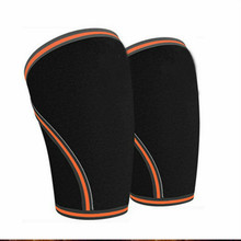 лучшая цена 7mm 1 Pair  Training WOD KNEE SLEEVE , Squats KNee support , Gym Workout, Powerlifting, Weight  of Knee Compression Sleeves