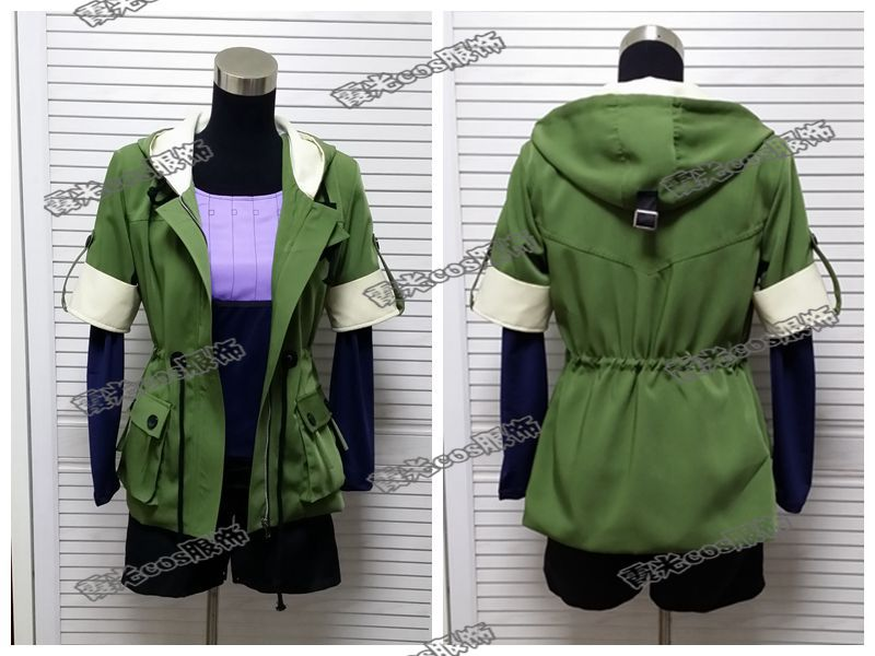 все цены на Tokyo Ghoul Touka Kirishima Cosplay Costume Green Hoodie jacket+full shirt+short pants+socks Any size