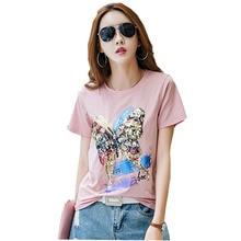 Kawaii moda t camisa mujeres camiseta de lentejuelas t camisa las mujeres  verano tops camiseta mujer camiseta femenina t camisas 22e9430dc04