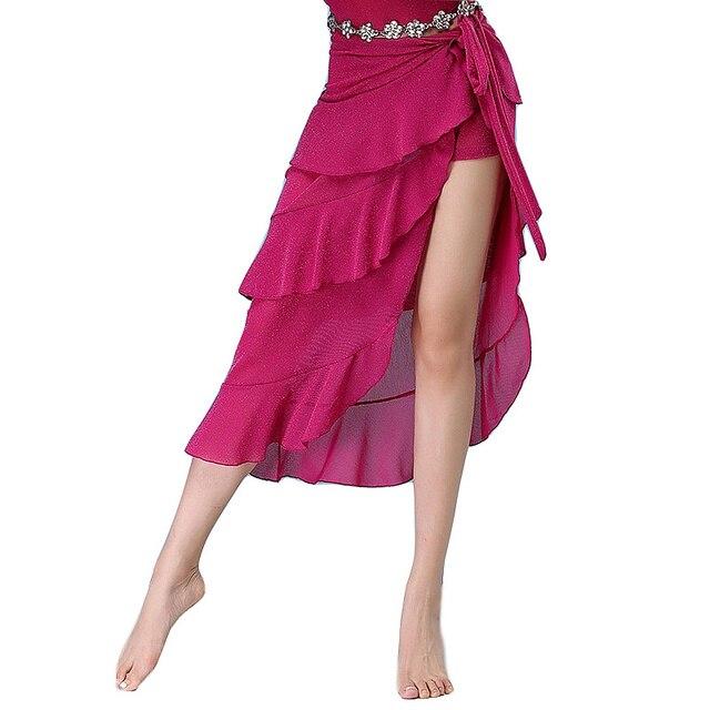 2018 ใหม่เต้นรำ Belly Dance เสื้อผ้าเครื่องแต่งกายอุปกรณ์เสริมครึ่งวงกลม Wrap เข็มขัดผ้าพันคอสะโพก Belly Dance Over กระโปรงฟรีขนาด