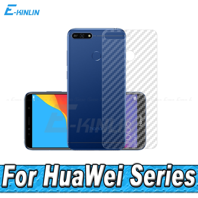 3D Carbon Fiber Rear Screen Protector For <font><b>HuaWei</b></font> <font><b>Honor</b></font> <font><b>5C</b></font> 5 6X 6C 7C 8C 7A Pro Back Cover Protective Film Not Tempered <font><b>Glass</b></font> image