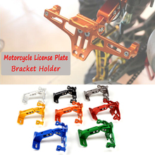 Motorcycle License Plate Bracket indicator lights Frame Number Plate For For Honda CRF 250 450R X XT 225 250R XR250 400 600 650 polisport number plate white for honda crf 250r 450r 09 11