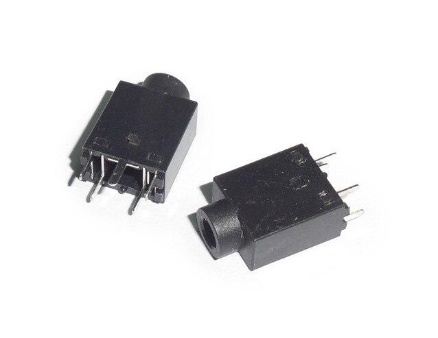 Connecteur Audio femelle 3.5mm 10 pièces/lot | DIP 5 broches 180 degrés, Jack pour casque découte stéréo PJ358