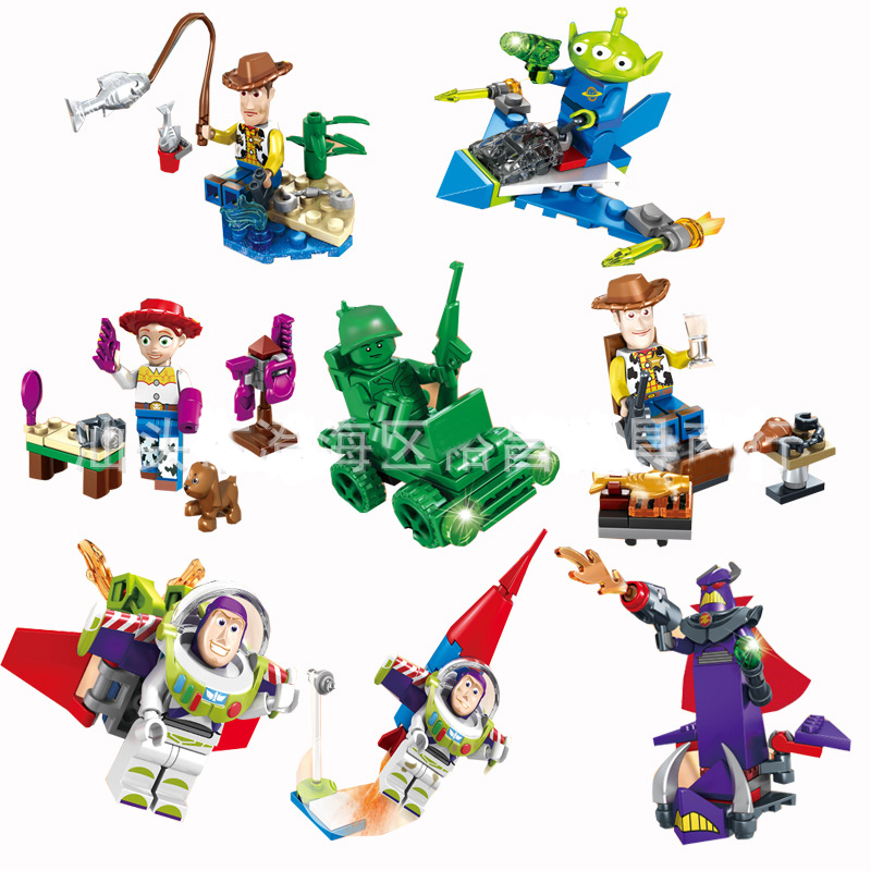 Wholesale 80pcs/lot Toy Story 2017 NEW SY661 Building Blocks Bricks Toys Buzz Light-year Woody Emperor Zurg Squeezy Aliens toy 4 story minifigures sy172 toy story buzz lightyeartoys woody jessie emperor aliens building blocks sets model
