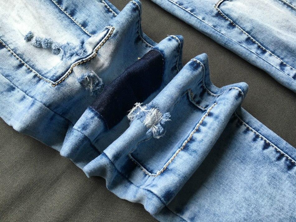 Lapitud muljega helesinised teksapüksid