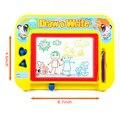 Apagável colorido Magnetic Writing Drawing Board Pad esboçar esboço do Doodle brinquedo aprendizagem com 2 selos & 1 caneta