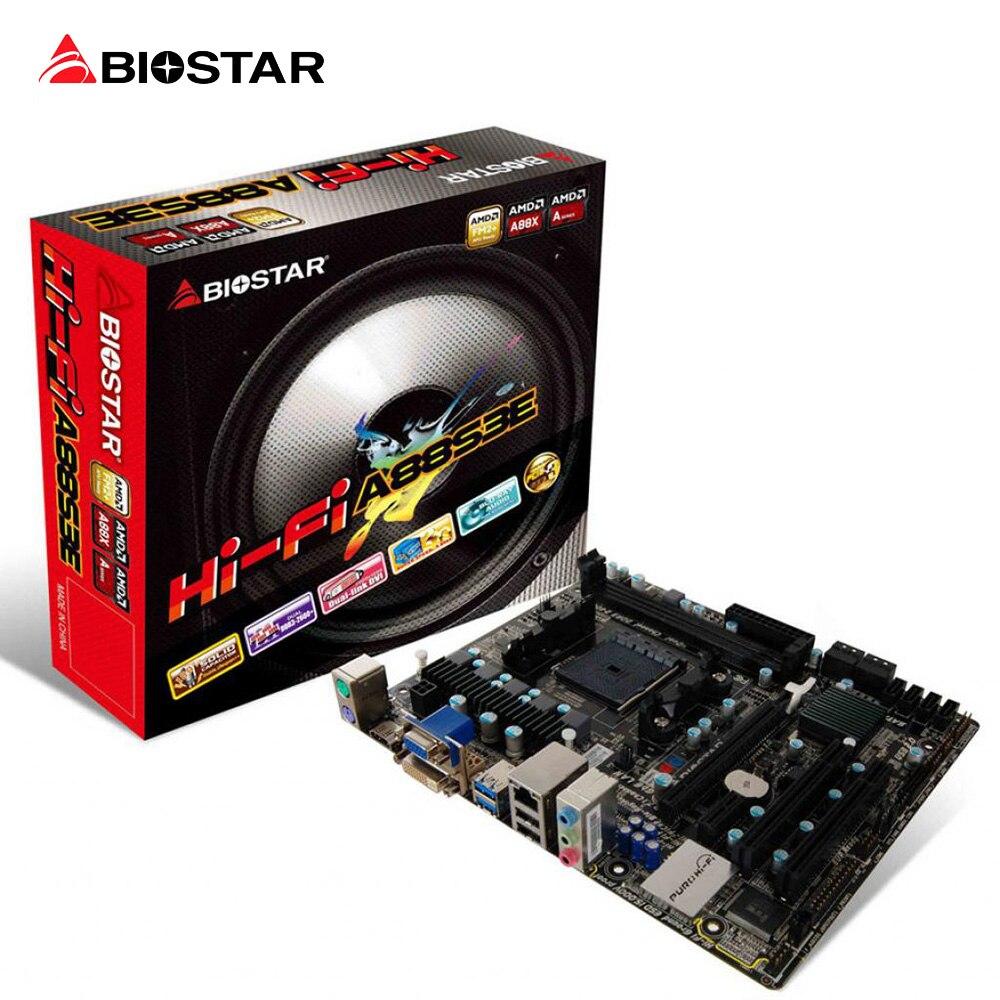 BIOSTAR Hi-Fi A88S3E FM2+A88 Motherboard Micro ATX Desktop Computer Motherboard for AMD Support DDR3 2600 2400 2133 1866 1600
