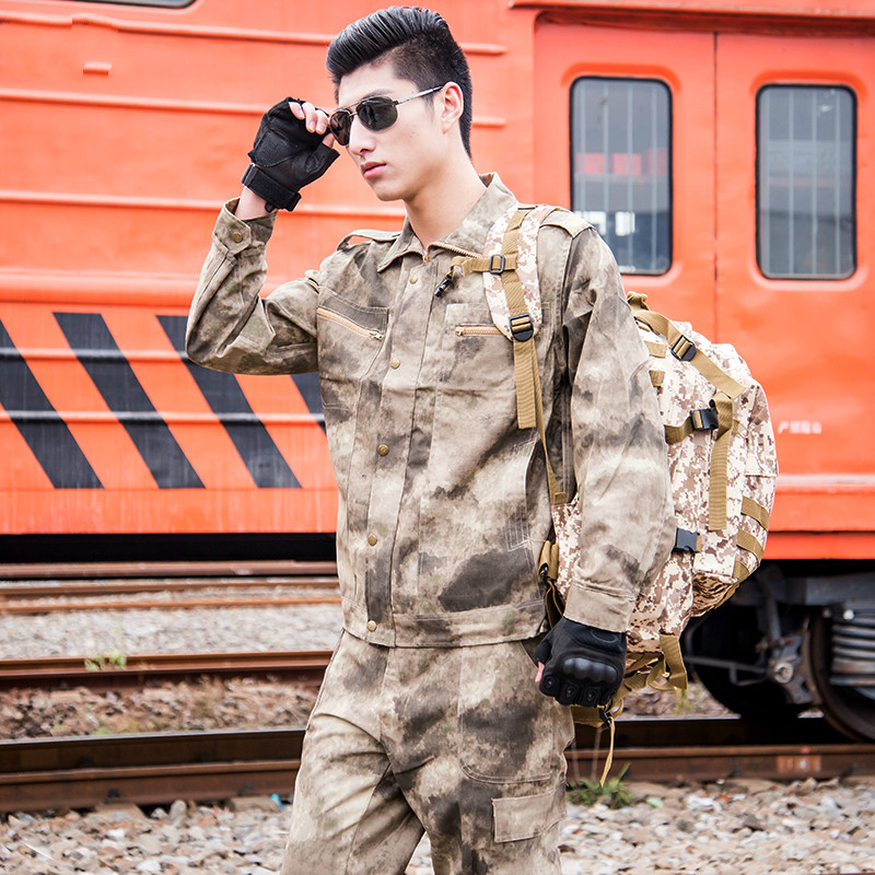 Men's Clothing Army Men Tactical Camouflage Military Uniform Army Combat Suits Camouflage Jacket + Pants