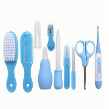 Newborn Care Kit Baby Grooming Set Infant Nursery Kits Nail Clipper File Scissor Tweezer Thermometer Brush Comb Cleaning Sets недорого