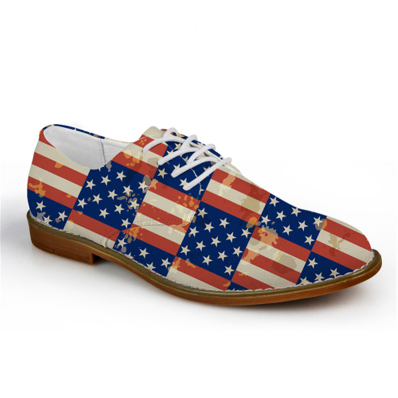 474c26f7328fcd JACKHERELOOK Casual Men Synthetic Leather Oxford Shoes Fashion UK USA Flags  Puzzle British Style Mens Flat Shoes High Quality-in Oxfords from Shoes on  ...