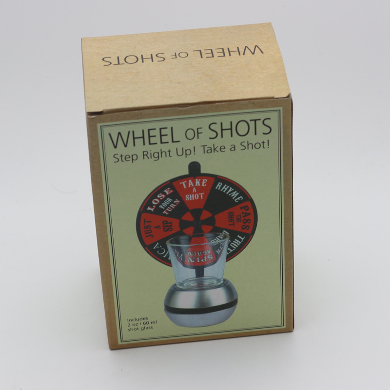 2017 New Arrival Party Games Lucky WHEEL of SHOTS Board Game Drink Toys with shot glass Novelty Gifts Family Parties Gag Toy HOT 5