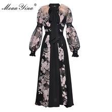 Moaayina модное платье; Весенняя женская обувь с длинным рукавом