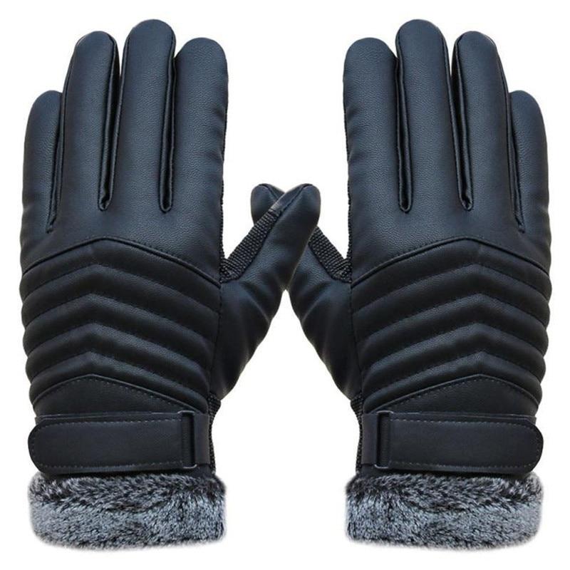 1 Pair Delicate Men Winter Gloves Men's Leather Gloves Driving Glove Slip Men Thermal Winter Sports Gloves
