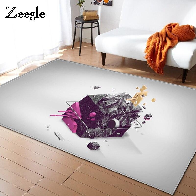 Zeegle 3D Carpet For Living Room Kids Room Carpet Creative Sofa Mats Bedroom Rectangular Rug Modern Medit Yoga Floor Mat
