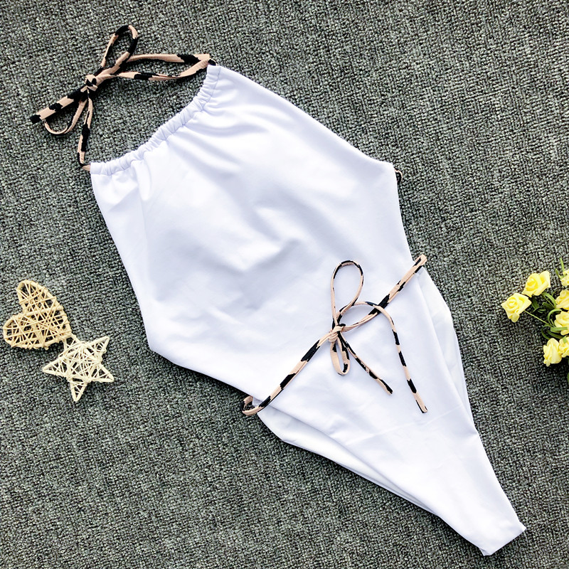 2019 New Women Sexy Print Brazilian One Piece Swimsuit Floral Retro Thong High Waist Bodysuit Backless High Cut Bikini Swimwear