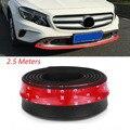 2.5 M/Roll 6.5 cm Largura TPVC Saia Lábio Lábio Dianteiro Do Carro Amortecedores de Borracha Amortecedores Carro Protetor Resistente A Riscos decorar