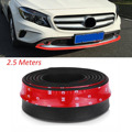 2.5M/ Roll 6.5cm Width TPVC Lip Skirt Protector Car Scratch Resistant Rubber Bumpers Car Front Lip Bumpers Decorate