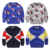 2016 niños del otoño muchachos de la ropa suéteres bebé de dibujos animados de manga larga de cuello redondo pullover suéteres de punto para niños top