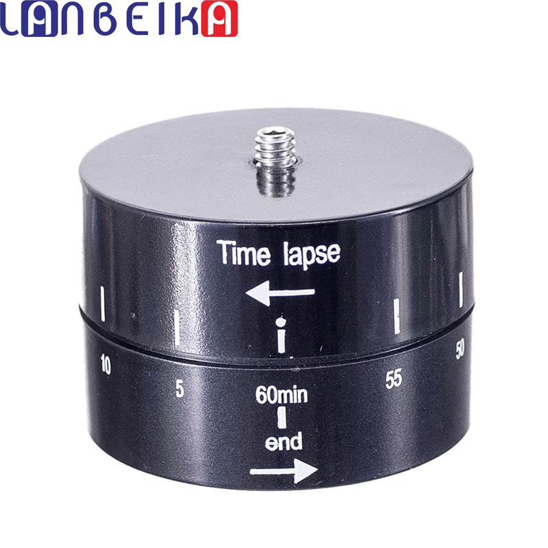 LANBEIKA For Mobile Phone Time Lapse 360 Degree Auto Rotate Camera Tripod Head Base 360 TL Timelapse For Gopro Camera SLR