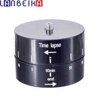 LANBEIKA For Mobile Phone Time Lapse 360 Degree Auto Rotate Camera Tripod Head Base 360 TL Timelapse For Gopro Camera SLR