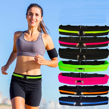 Elastic sports running bag Multi-functional waist pockets Waterproof mobile phone for 6.3inch