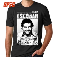 Narcos Pablo Escobar Narcos T Shirt Weed Mafia Scareface Luciano Capon Men 100% Cotton Tees Plus Size Short Sleeve T-Shirt