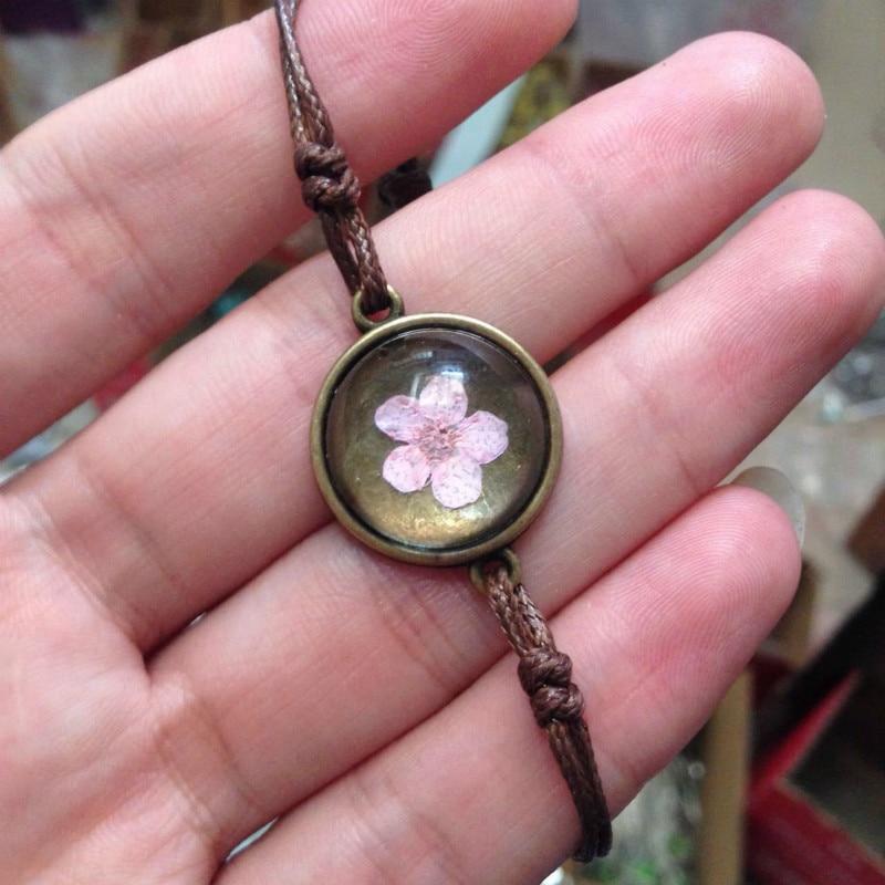 Dried flowers woven bracelet 5