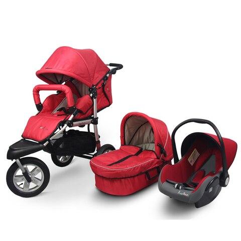 carrinho de bebe roda sentado reclinada dobravel quatro wheel