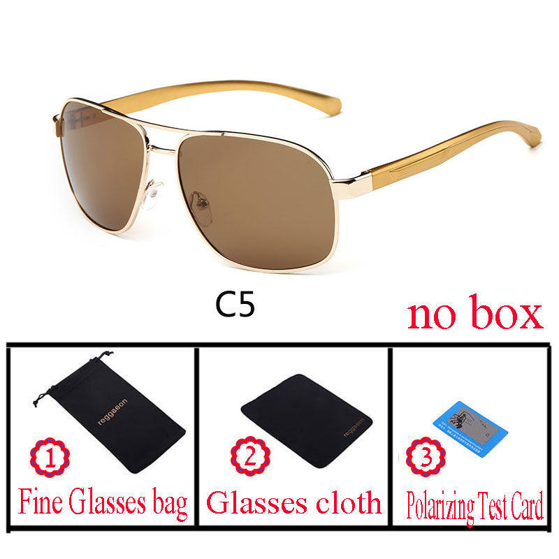 2018 reggaeon Brands Aluminum Magnesium Alloy Frame Square Polarized Sunglasses Mens Driver Mirror Sun glasses for Male Eyewear