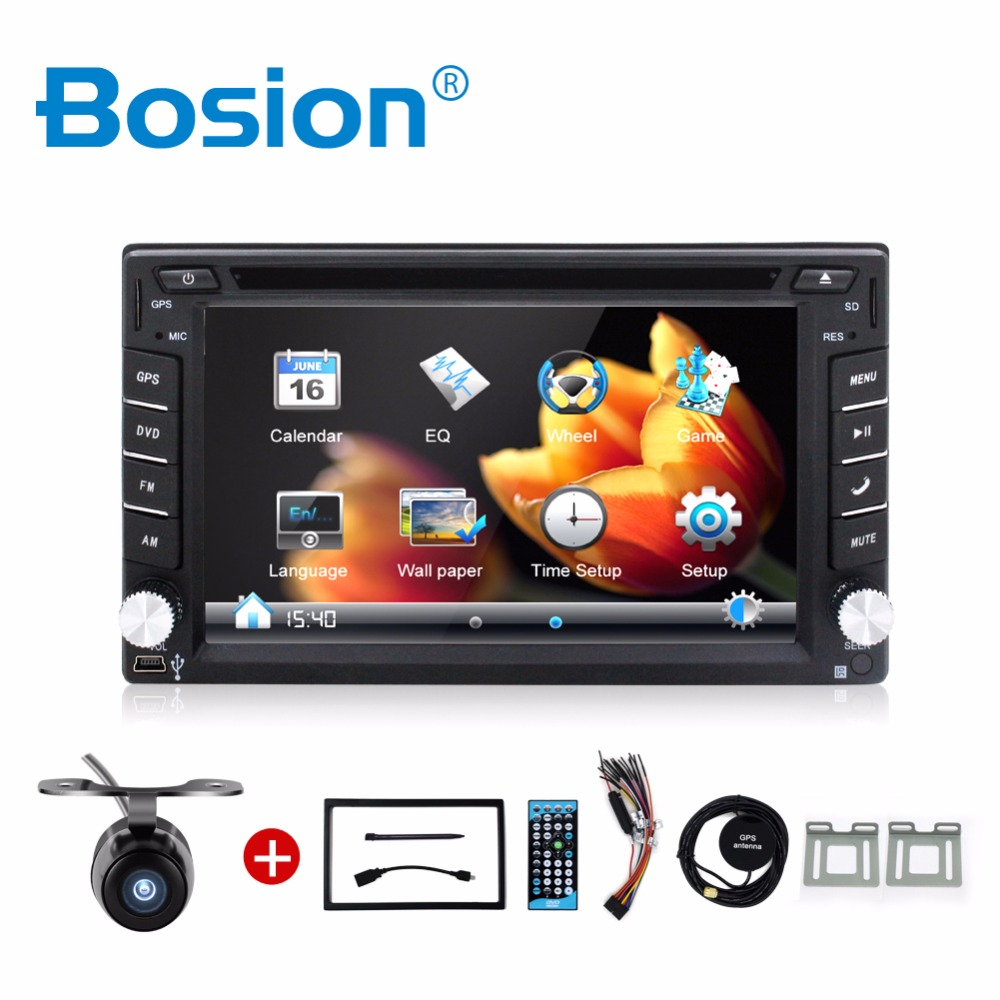 100% New universal Car Radio Double 2 din Car DVD Player GPS Navigation In dash Car PC Stereo video+Free Map+Free Camera цена