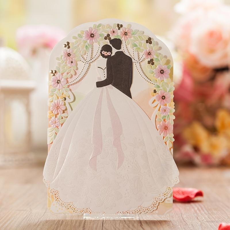 Laser Cut Wedding Invitations Kit Customizable Bride & Groom ...