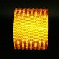 15 см X 3 м высококачественное отражающее оранжевый пояс Авто супер класс светоотражающие наклейки 15 см оранжевый Светоотражающая сигнальна...