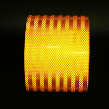 15 ซม.X 3m reflective คุณภาพสูง ORANGE เข็มขัดอัตโนมัติ Super เกรดสติกเกอร์สะท้อนแสง 15 ซม.ORANGE สะท้อนแสงเทป
