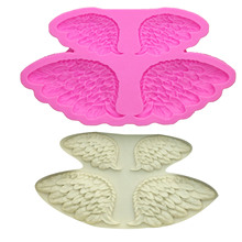 M0143 Feather Angel Wings Silicone Mold baby Fondant Cake Decorating Tools Sugarcraft Chocolate Candy Clay Moulds цена