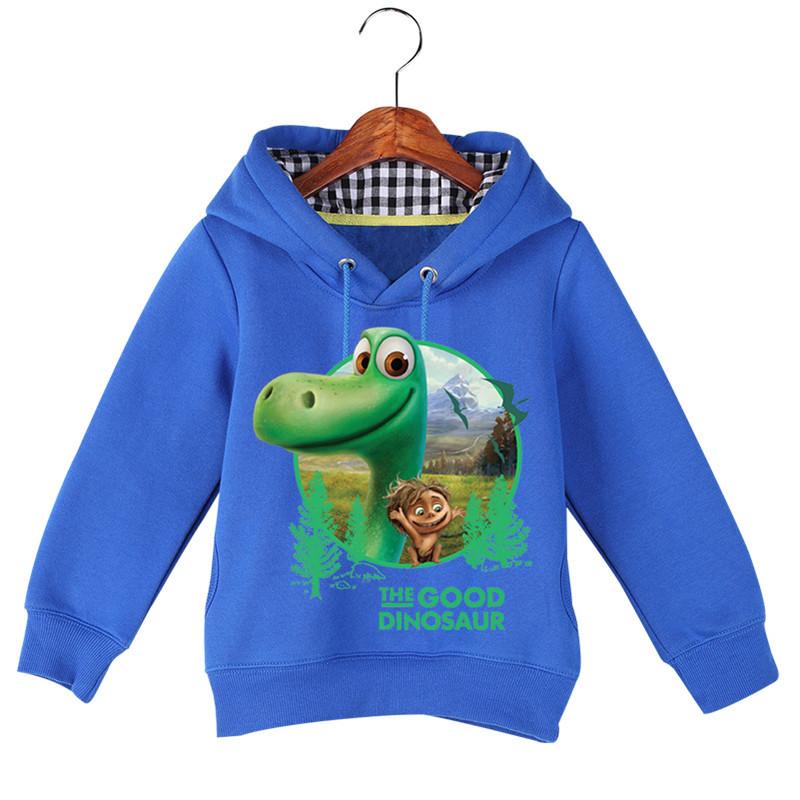 Jiuhehall High Quality Children\'s The Good Dinosaur Hoodies & Sweatshirts Autumn Winter Plus Velvet Boys Girls Hoodie GCM016 (1)