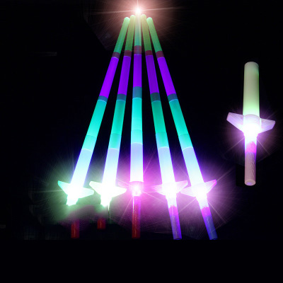 Retractable Light Stick Novelty Shiny Sword Toy Four Adjustable Lengths Birthday Party Show And Other In Fan Supplies  Wholesale