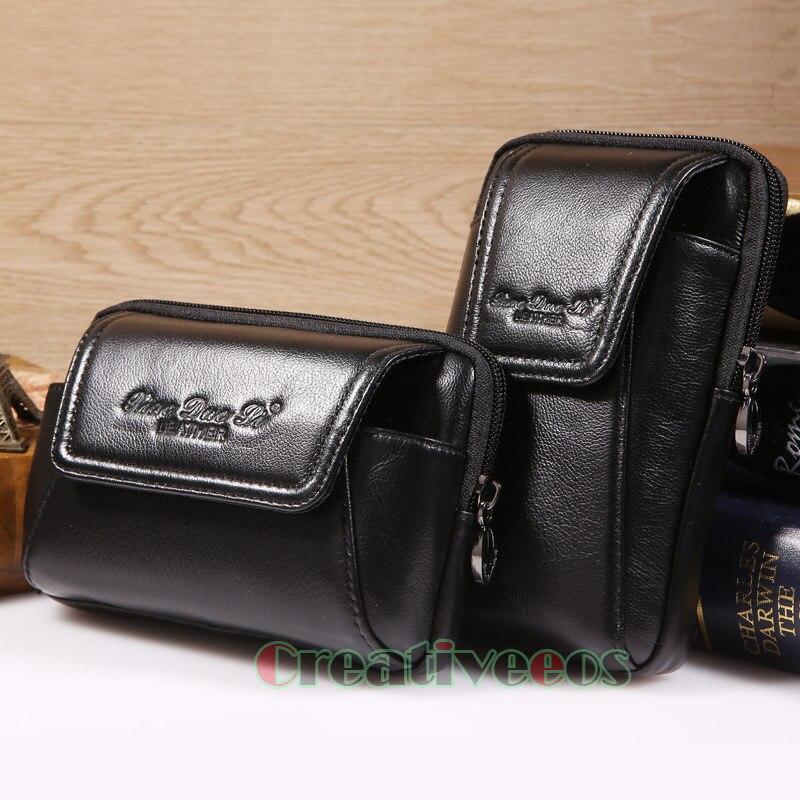 telefone móvel bolsa de cinto Composição : Genuine Leather