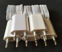5 x USB Seyahat Cep Telefonu Şarj AB AC Tak Güç Adaptörü duvar şarj + sync tarihi şarj kablosu için iphone 7 6 5 5 S