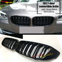For F83 Grille ABS Glossy Black M4 2-door Convertible Car Front Grills M-Style Double Slats Kidney 2013-2018