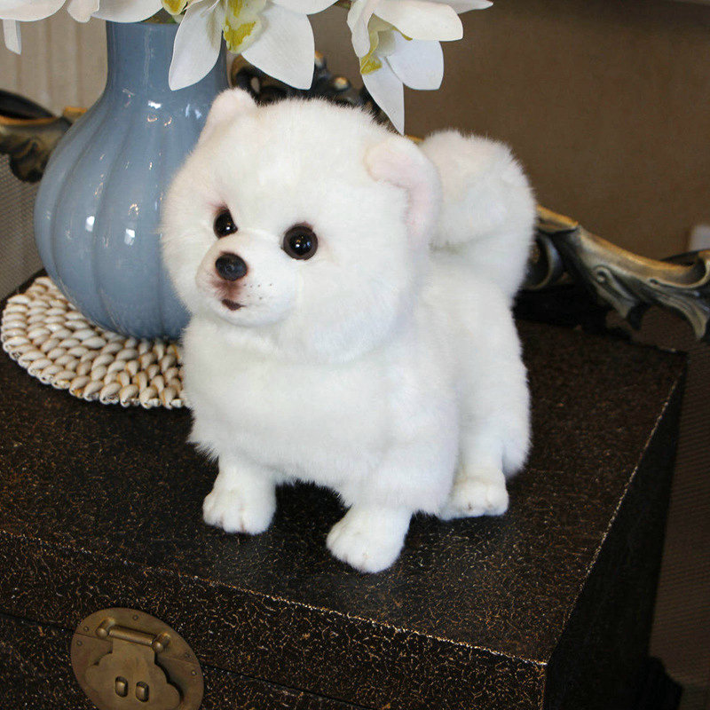 Plush Pomeranian Dog Doll Simulation Dog Stuffed Animal Toys Super