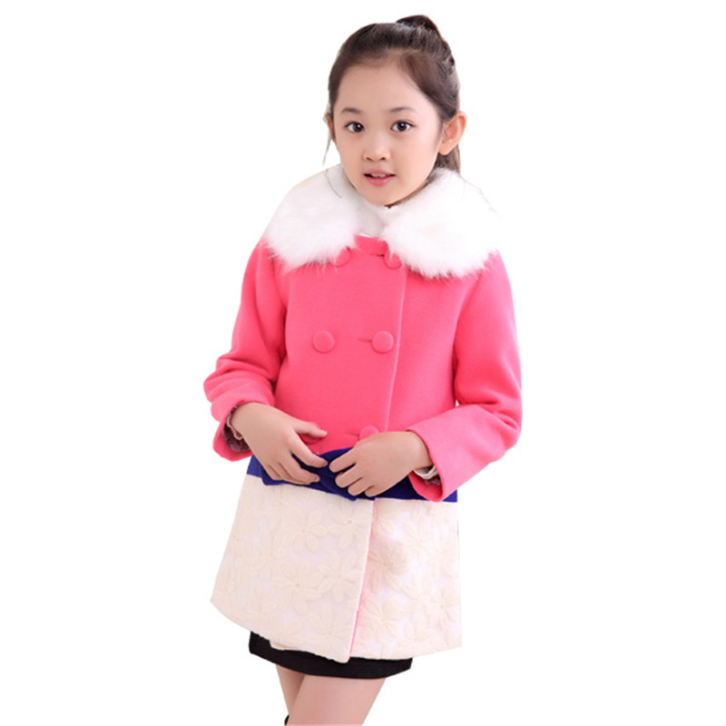 New 2016 Autumn Long Girls Jackets Double Breasted Sash Children Girl Trench Coat Fashion Children's Outerwear Clothing KX103 ellen tracy outerwear women s double breasted classic trench coat