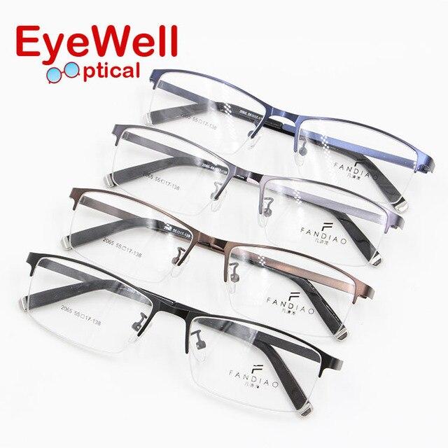 Супер тонкий и легкий сплав металл мужчины оптический рамка храм наиболее популярные модные очки 2016 горячий продавать